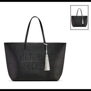 Brand New Victoria Secrets Black Laser Cut Tote